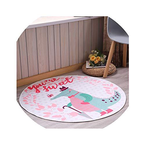 Cartoon Magic Circle Rabbit Printed Puzzle Mats Children Round Carpet Diameter 60-160cm Baby Play Mat Area Rug Anti-Slip,color11,Day 80cm (Floor Tn & Knoxville Decor)