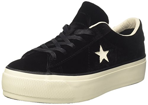 Converse Women's One Star Platform, Black/Ivory, 8 US