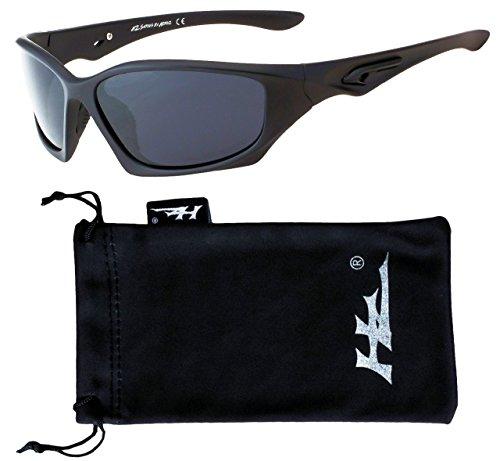 HZ Negro Polarizadas de de Sol Lente Mate Hornz Pro de Humo Serie Marco Oscuro Gafas Premium qIvrwxXv0n