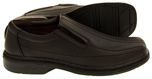 Cuir Doublé sur Chaussures Classics Hommes Hommes les Glisser Marron Classics qFxtvw6B