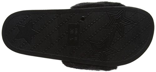 New Look 5104584, Chanclas Mujer Negro (Black)