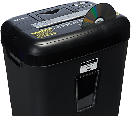 Amazonbasics 12 Sheet Cross Cut Paper Cd Credit Card Shredder