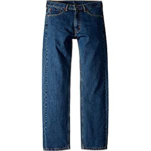 Levi's Men's 505 Regular Dark Stonewash Jeans