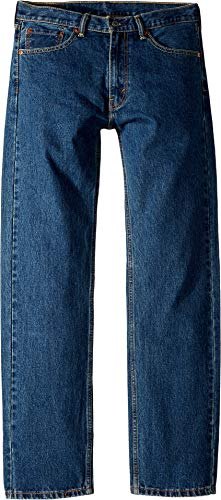 Levi's Men's 505 Regular Fit Jean, Dark Stonewash, 33×32