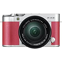 Fujifilm X-A3 Mirrorless Camera XC16-50mm F3.5-5.6 II Lens Kit - Pink