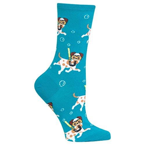 Hot Sox Women's Snorkeling Dogs Socks (Dog Hot Sox)