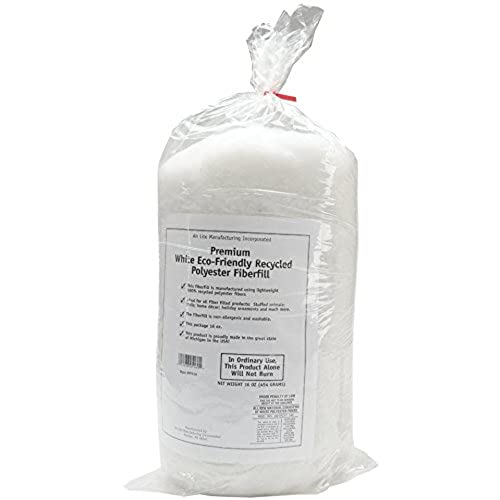 Air Lite Recycled Polyester Fiberfill, 16-Ounce, White