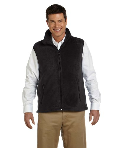 Harriton Womens Fleece Vest (M985) -BLACK -4XL