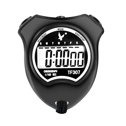 Professional Stopwatch - LEAP Professional Digital Sports Stopwatch Timer, Waterproof and Shockproof Stopwatch with Extra Large Number Display, Great for School Community or Personal, Track Field Events and Swim Events