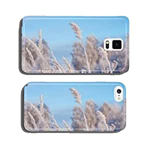 grass in hoarfrost winter day cell phone cover case Samsung S5
