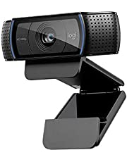 Logitech C920 HD Pro Webcam for Amazon, Full HD 1080p/30fps Video Calling, Clear Stereo Audio, HD light correction, Works with Skype, Zoom, FaceTime, Hangouts, PC/Mac/Laptop/Macbook/Tablet - Black
