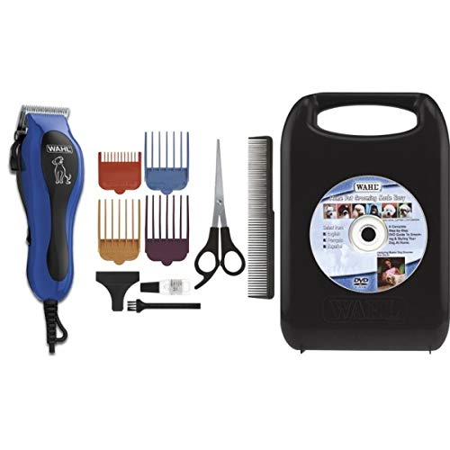 WAHL U-Clip 09281 Pet Deluxe Corded Clipper Kit with Adjustable Clipper, 4 Attachment Combs Deluxe Accessory Kit for Dogs and Pets by WAHL