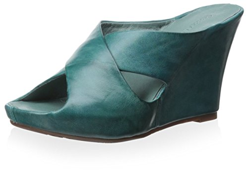 Chocolat Blu Womens Cypress Sandal Teal Leather