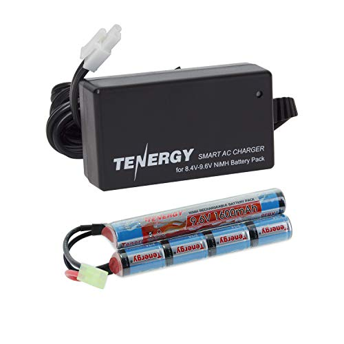 - Tenergy Combo 9.6V 1600mAh Butterfly Mini NiMH Battery Pack + 8.4V-9.6V NiMH Smart Charger