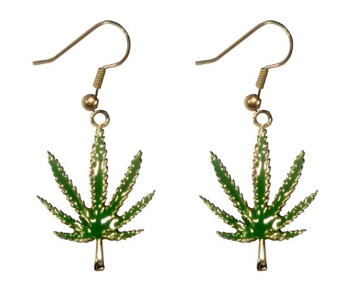 Marijuana Pot Leaf Earrings