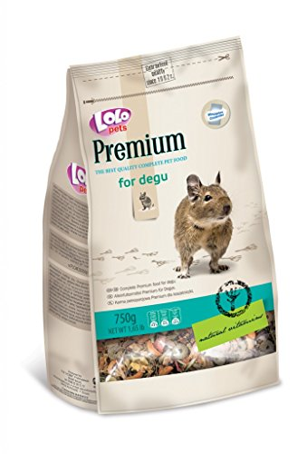 Lolo Pets Premium Complete Pet Food for Degu, 900g