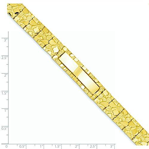 14 carats Pépite d'ID Bracelet 12 mm - 8 mm-Fermoir-JewelryWeb