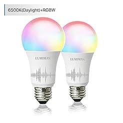 Smart WiFi Light Bulb, LED RGB Color Cha...