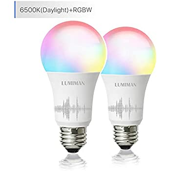 Color LED Light Bulb, Wi-Fi Dimmable Smart Bulb, Works with Alexa