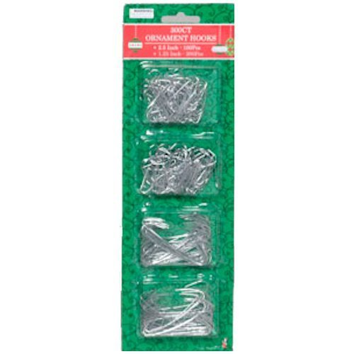 Silver Hooks Ornament (Silver Ornament Hooks Pack Of 300)