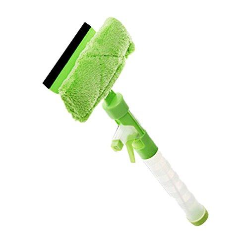 3 in 1 Water Wiper Glass Clean Spray Window Cleaner (Green) - 1