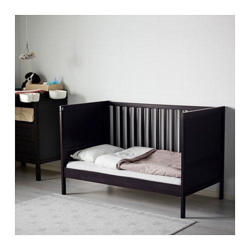 purchase cheap 74566 63cc8 Ikea Sundvik Crib, Black-brown