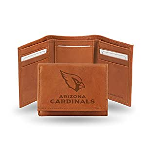 NFL Arizona Cardinals Embossed Genuine Cowhide Leather Trifold Leather Wallet