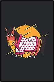 caballo cansado: Din A5 pijama cuaderno de caballos regalo de caballos molestos con páginas 120
