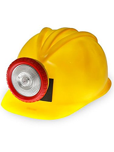 Forum Unisex Novelty Miner's Helmet with Light, Multi, One Size -