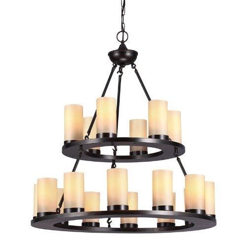 Sea Gull Lighting 31585-710 Ellington Eighteen Light Chandelier, Burnt Sienna Finish