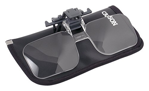 Carson Clip and Flip 1.5x 2.25 Diopters Magnifying Lenses for Reading, Hobby and Crafts - Set of - Craft Lenses