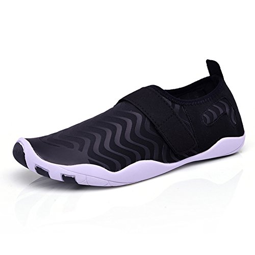 Eagsouni Barefoot Aqua Water Shoes Beach Swimming Quick Drying Slip On Yoga Shoes Skin Socks for Unisex Mens Womens Black