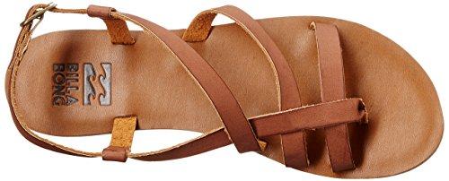 Billabong Womens Tan Linez Toe Ring Sandal Desert Brown yds3CpuuY1