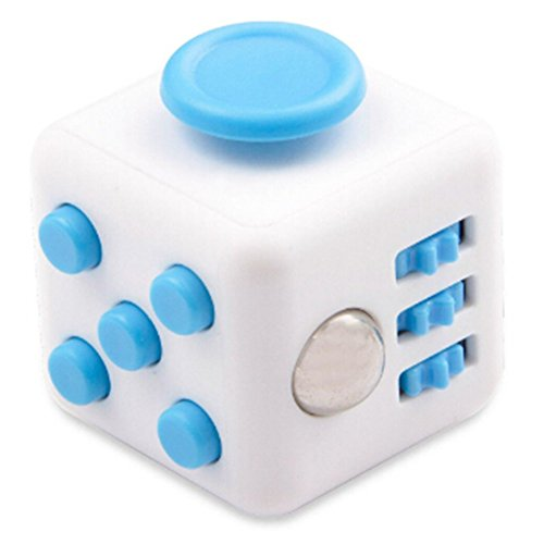 DSSY Fidget Dice Stress Release Toys White and Blue