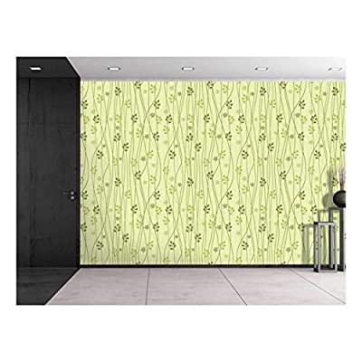 Alluring Composition, Professional Creation, Large Wall Mural Seamless Floral Pattern Vinyl Wallpaper Removable Decorating