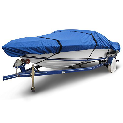 Budge Ripstop Yacht Cover fits Fish and Ski Boats / Pro Style Boats B-1600-X4 (16' to 18.5' Long, Blue)