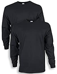 Gildan Mens Ultra Cotton Adult Long Sleeve T-Shirt, 2-Pack