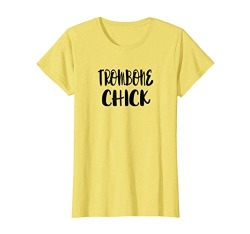 Womens Trombone Chick - Funny Trombone T Shirt for Women and Girls Medium (Trombone Chick)