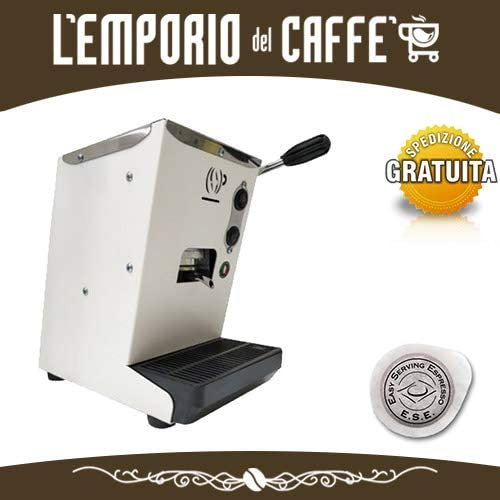 Máquina de café Lollo modelo Lolina a monodosis ese 44 mm filtro papel color blanco + 40 cápsulas de regalo Lollo mezcla clásica + regalo Emporio del café: Amazon.es: Hogar