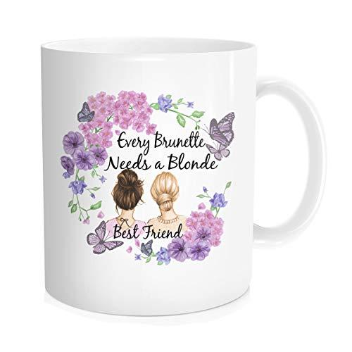 Hasdon-Hill Blonde Best Friend, Bestfriend Mug, Blonde Cup, Brunette Mug, Brunette Friend, Blonde Coffee Mug, Best Bitches Mug, Blonde Bestie, BFF 11 Oz