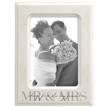 Malden International Designs Wedding Mr. and Mrs. Wooden Picture Frame, 5 by 7-Inch by Malden International Designs