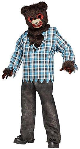 [Scary Teddy Bear Child Costume (Medium 8-10)] (Evil Teddy Bear Halloween Costume)