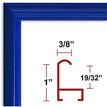 10 x 14 blue poster frame profile 15 custom size picture frame