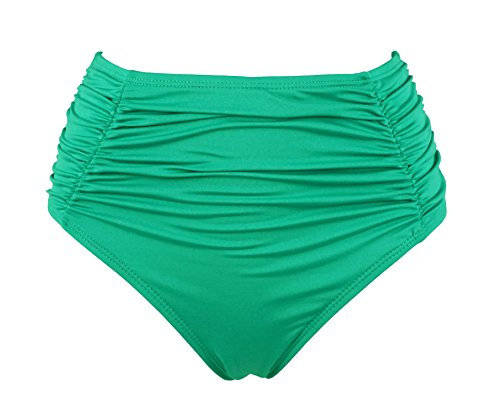 Cocoship Womens Waisted Bikini Ruching