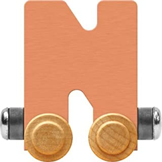 product image for Maple Landmark NameTrain Pastel Letter Car N - Made in USA (Orange)