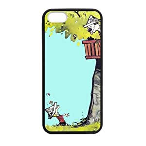SUUER Custom Calvin and Hobbes Comic Cartoon Personalized Custom Hard Case for iPhone 4 4s Durable Case Cover
