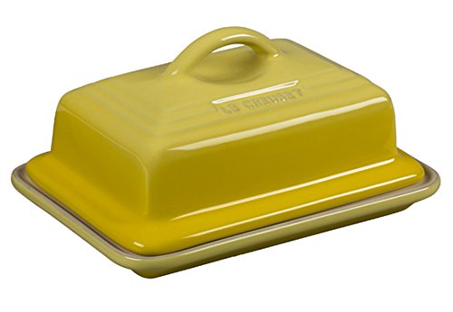 - Le Creuset of America Heritage Stoneware Butter Dish, Soleil