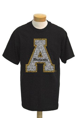 (NCAA Men's Appalachian State Mountaineers Biggies Short Sleeved T-Shirt (Black, Large) )