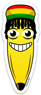 - Reggae Rasta Banana Premium Vinyl Sticker Indoor - Outdoor 4 inch