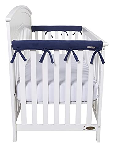 Trend Lab CribWrap Narrow 2 Short Fleece Rail Covers, Navy - Crib Teething Rail Cover